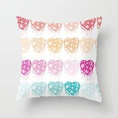 Heart Catcher - Fade Throw Pillow