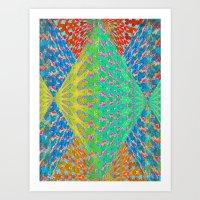 diamonds Art Prints featuring Diamonds by elikourY