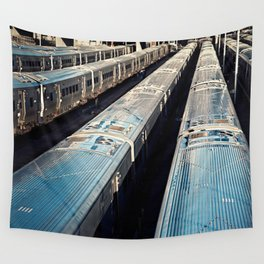 Subway Trains, New York Wall Tapestry