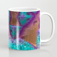 be brave Mugs featuring Brave by Fractalinear