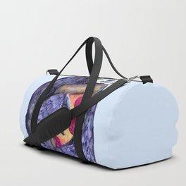purple sloth loves pizza Duffle Bag