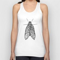 moth Tank Tops featuring moth by Eric Tiedt