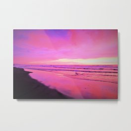 Getting Into the Sunset Pinks by Reay of Light Metal Print