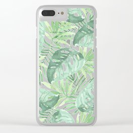 Tropical Branches Pattern 03 Clear iPhone Case