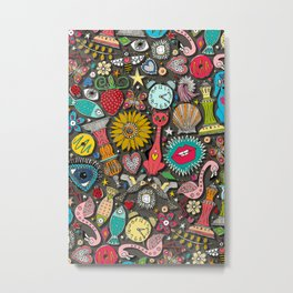 kitsch carbon scatter Metal Print