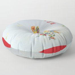 Year of the Rooster 金 雞 祝 福 (with border) Floor Pillow