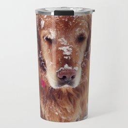 Snowy Face Dog Travel Mug