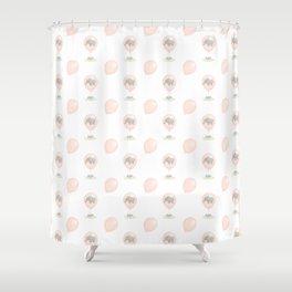 Elephant in a balloon Shower Curtain