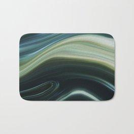 Green and Blue Marble Swirl Design Bath Mat