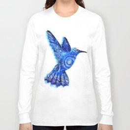 Surreal Hummingbird | Space Hummingbird | Double Exposure Animals Long Sleeve T-shirt