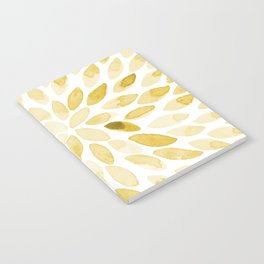 Watercolor brush strokes - yellow Notebook