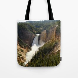 Majestic Upper Falls - Yellowstone Valley Tote Bag