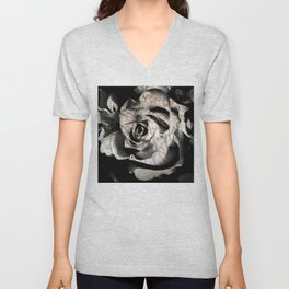 Rose forming from light and shadows Unisex V-Neck