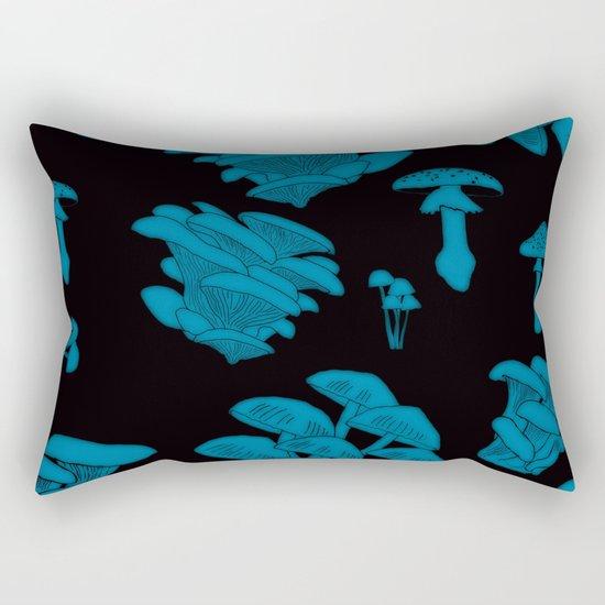Mushroom Blue Rectangular Pillow