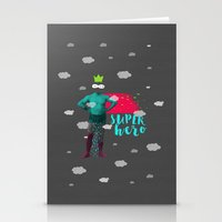 super hero Stationery Cards featuring SUPER HERO by SNEP