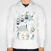 ski Hoodies featuring SKI LIFTS by BLUE VELVET DESIGNS