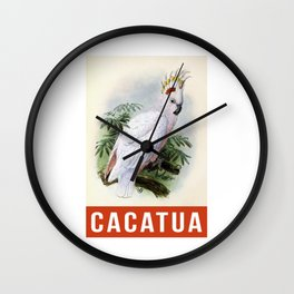Cacatua Parrot Wall Clock