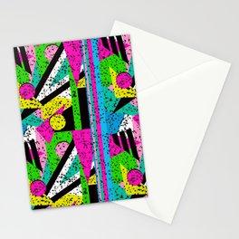 80's Shape Splatter Stationery Cards