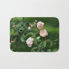 Cream Roses Bath Mat