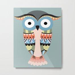 tribal owl Metal Print