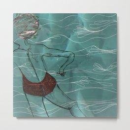 Blue Swimmer no. 6 Metal Print
