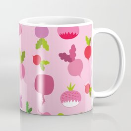 Pink Radish Coffee Mug