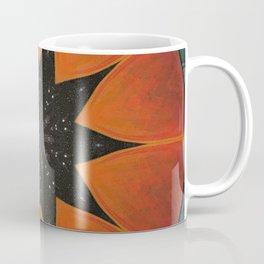 Eclipse // Vibrant Visionary Art Star Pattern Healing Energy Bohemian Orange Teal Magical Chakra Coffee Mug