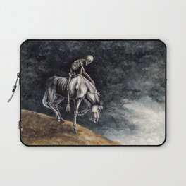 Skeleton Riding a Pale Horse Laptop Sleeve