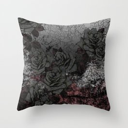 Cemetery of roses Throw Pillow