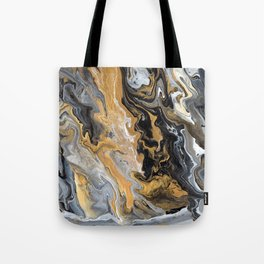 Gold Vein Marble Tote Bag