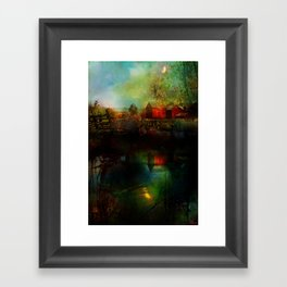Country atmosphere Framed Art Print