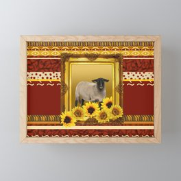 Frame Design yellow Sheep Framed Mini Art Print