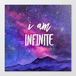 I Am Infinite Affirmation Art Canvas Print