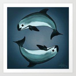 Spiraling ~ Vaquita Porpoise art by Amber Marine (Copyright 2015) Art Print