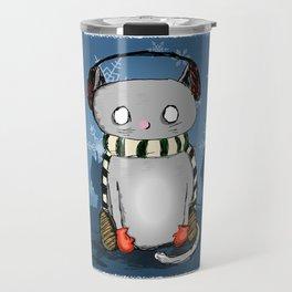 Snow Kitty Travel Mug