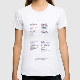 Daft Punk Discography - Music in Colour Code T-shirt
