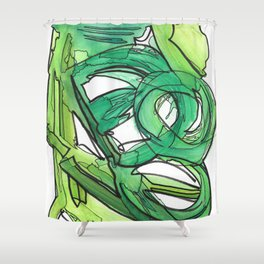 Nature's Lever Modern Watercolor Painting Shower Curtain