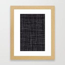 black GRID Framed Art Print