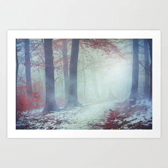Snow Glow Art Print