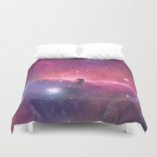 Pink Nebula Duvet Cover