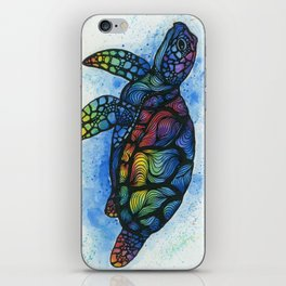 Rainbow Turtle iPhone Skin