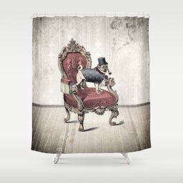 The Imperial Pug Shower Curtain