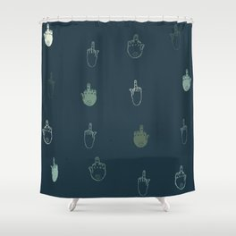 The finger Shower Curtain