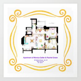 Apartment of Monica and Rachel from FRIENDS Art Print