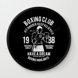 boxing club Wall Clock