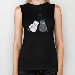 Boxing gloves night and day Biker Tank