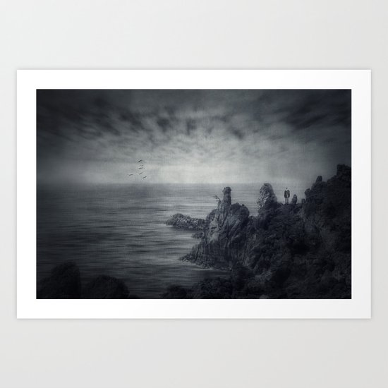 Lava.Sea Art Print