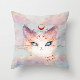 Stargazer Cat : Vision Seeker Throw Pillow