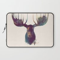 elephant Laptop Sleeves featuring Moose by Amy Hamilton