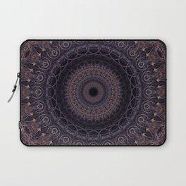 Mandala in cherry and plum tones Laptop Sleeve